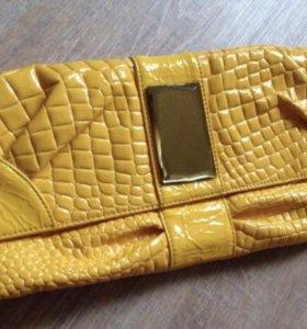 Клатч сумка желтая в о/с