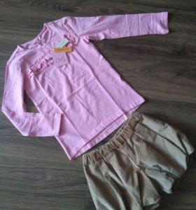Новые юбка- шорты и кофта OVS (Италия)