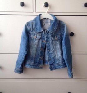 Джинсовая куртка 110см