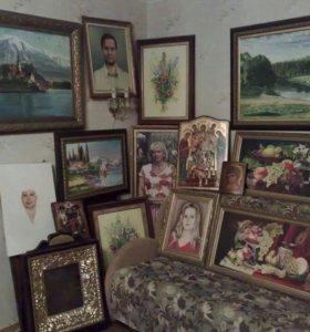 Пишу портреты,пейзажи,натюрморты, иконы на заказ.