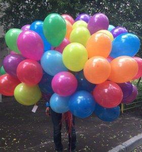 Воздушные шары 100 штук