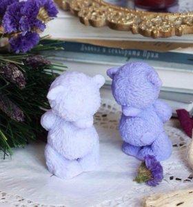 Мишка тедди скромник- мыло ручной работы