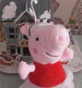 Свинка пеппа 17см