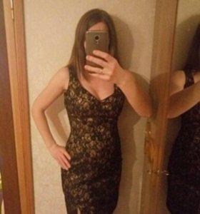 Нарядное платье из итальянского кружева