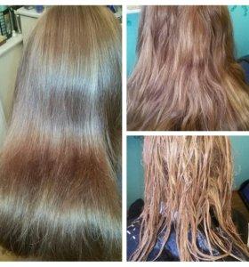 Смывка краски с волос и окрашивание