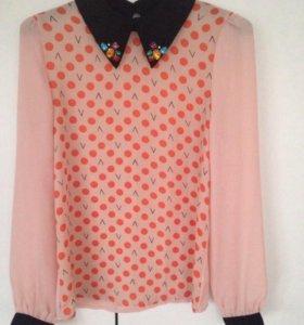 Блузка рубашка 44 р-р