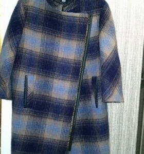 Пальто демисезонное 80% шерсть