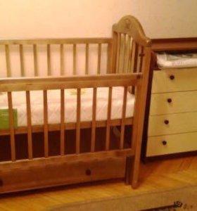 Продам детскую кроватку+ матрас