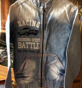 Джинсовая куртка летняя 128см