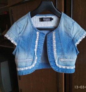 Жакет пиджак накидка болеро джинсовое новое