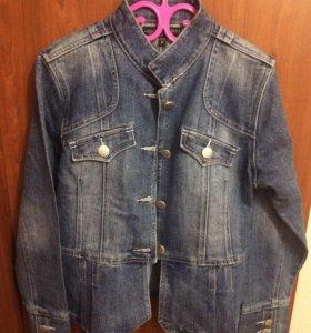 Куртка джинсовая , куртка кожаная