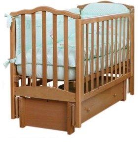 Кроватка детская Лель (бук)