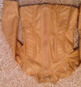 Куртка из искусственной кожи!