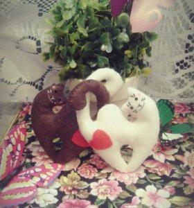 Игрушки и Цветы из фетра ручная работа🐶🌷