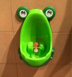 Писсуар лягушка для малышей