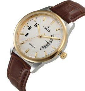 Мужские часы, стильный дизайн. В наличии 2 цвета.