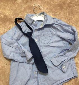 Рубашка с галстуком на 104
