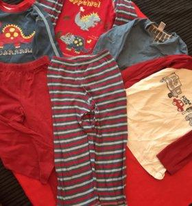 Пижамы для мальчика 2-3 года
