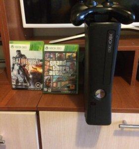 Xbox 360 slim 4gb(GTA5 1100р)