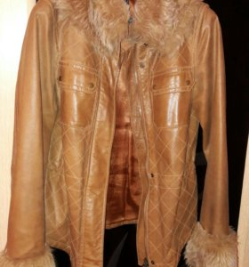 Куртка, экокожа, размер 44-46.