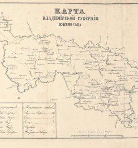 Карта владимирской губернии 1800