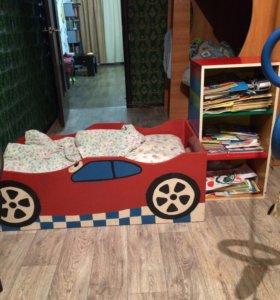 Кровать машина с тумбой