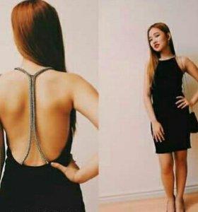 Крутое платье ZARA с открытой спиной