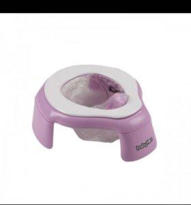 Дорожный горшок Babyton розовый