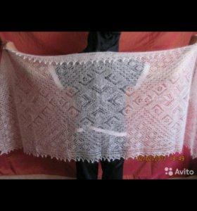 Оренбургский пуховый платок палантин