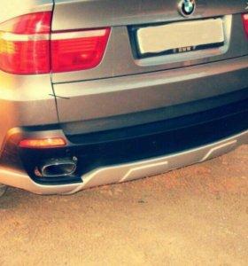 Накладка на задний бампер aero BMW X5 E70