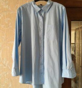 Рубашка голубая, новая