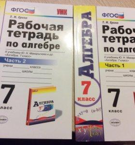 Рабочие тетради по алгебре.7 класс.1 и 2 часть