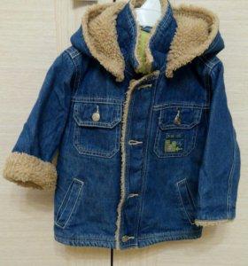 Джинсовая курточка (утепленная)