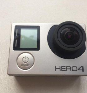 Экшн камера Go Pro hero 4 silver