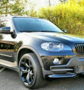 Накладка на передний бампер aero BMW X5 E70