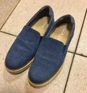 Massimo dutti слиппоны джинсовые (39)