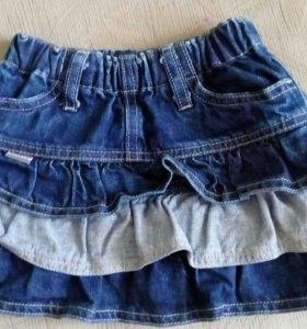 Юбка 2-3 года джинсовая как новая