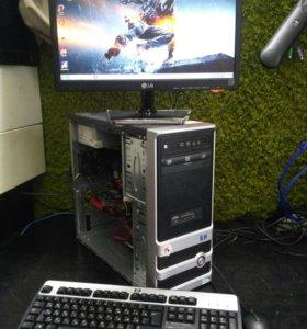 I5 четыре ядра, 4Gb DDR 3/500HDD. GTS450 1Gb