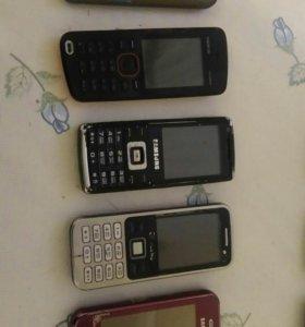 Телефоны  на запчасти и рабочие
