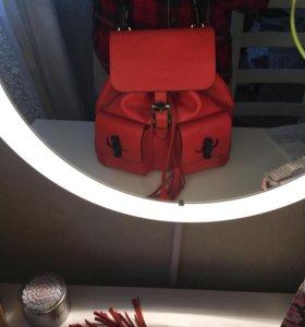 Кожаный итальянский рюкзак новый