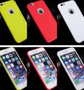 Силиконовый ультра-тонкий чехол для iPhone 6/6s