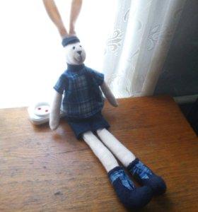 Кукла заяц. ( Ручная работа.)