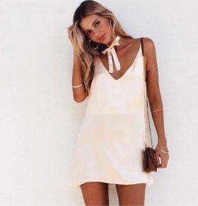 Атласное платье 42, 44