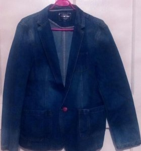 Пиджак джинсовый (блейзер) цвет синий размер 44-46