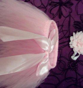 Юбка пачка розовая
