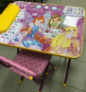 Стол + стул с пеналом НОВЫЙ