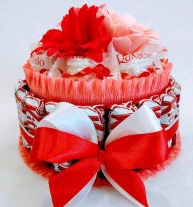 Торт из конфет, сладкий подарок 😋