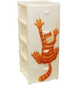 Комод ящик детский для игрушек Кот