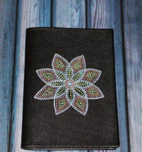 Обложка для паспорта с росписью ручной работы