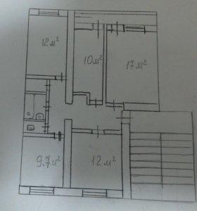 4-к квартира, 75 м2, 2/5 эт ПГТ. Яблоновский